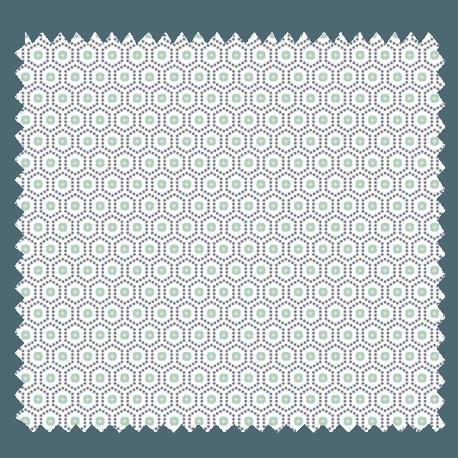 Tissu kobe imprim menthe tissus des ursules - Kobe tissu ...