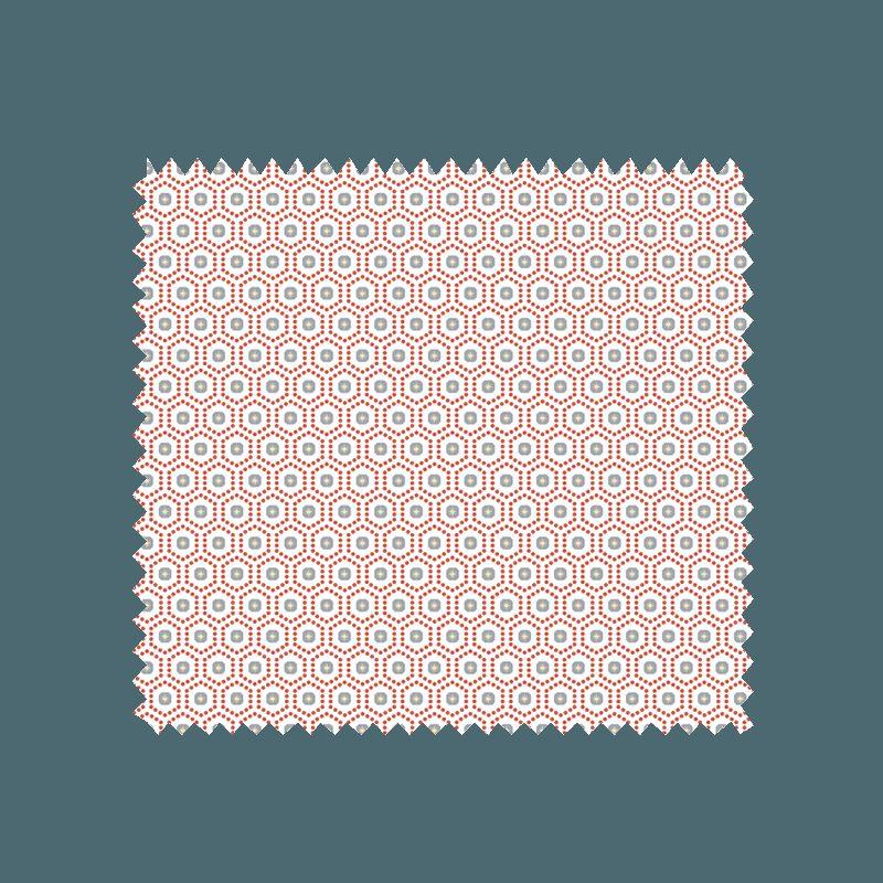 Tissu kobe imprim rouge tissus des ursules - Kobe tissu ...