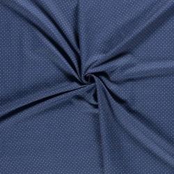 Tissu Jeans Pois Bleu Clair
