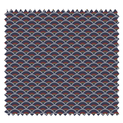 Tissu Koi Imprimé Bleu Nuit