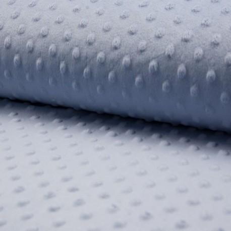Tissu Bubble Minky Uni Bleu Lavande
