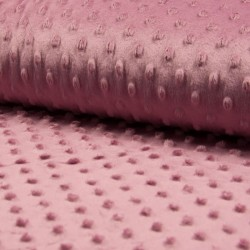 Tissu Bubble Minky Uni Vieux Rose