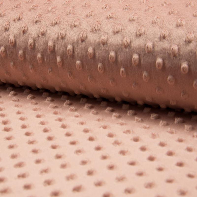 Tissu Bubble Minky Uni Poudre
