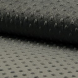 Tissu Minky Bubble Anthracite