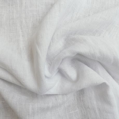 Tissu Verone Lin Lavé Blanc