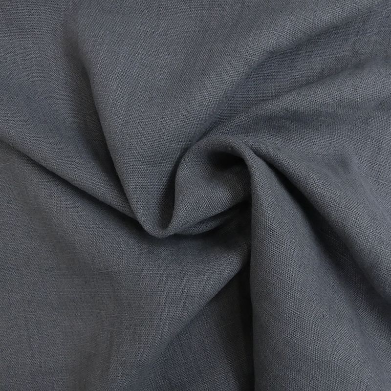 Tissu Verone Lin Lavé Anthracite