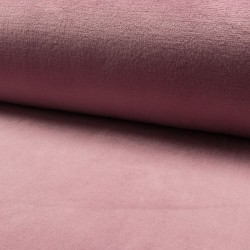 Tissu Polaire Microfibre Panda Uni Vieux Rose