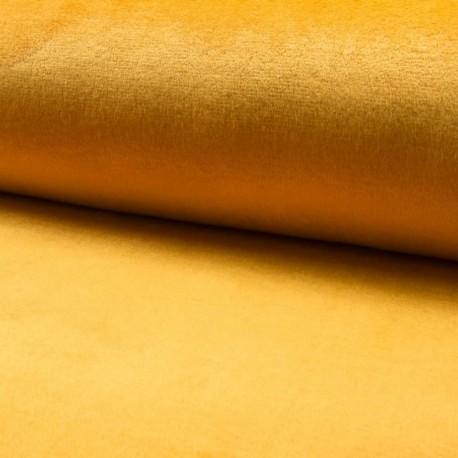 Tissu Polaire Microfibre Panda Uni Ocre