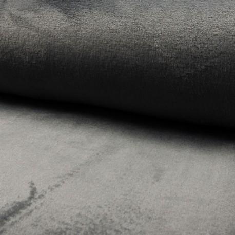 Tissu Polaire Microfibre Panda Uni Anthracite