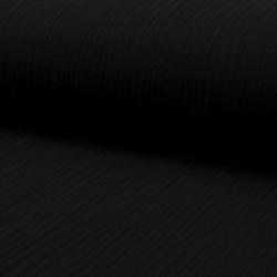 Coupon Tissu Double Gaze Uni Noir 100 x 135 cm
