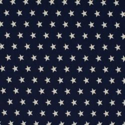 Tissu Coton Imprimé Etoile Marine
