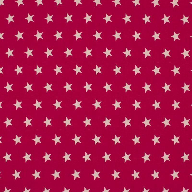 Tissu Coton Imprimé Etoile Fuchsia