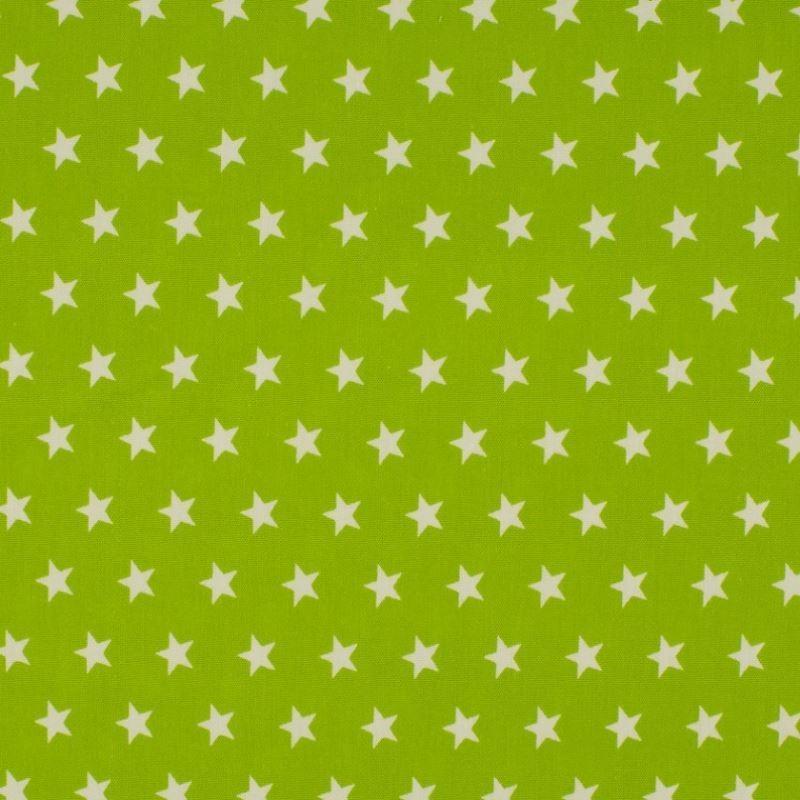 Tissu Coton Imprimé Etoile Anis