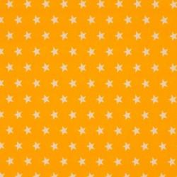 Tissu Coton Imprimé Etoile Jaune