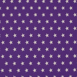 Tissu Coton Imprimé Etoile Violet