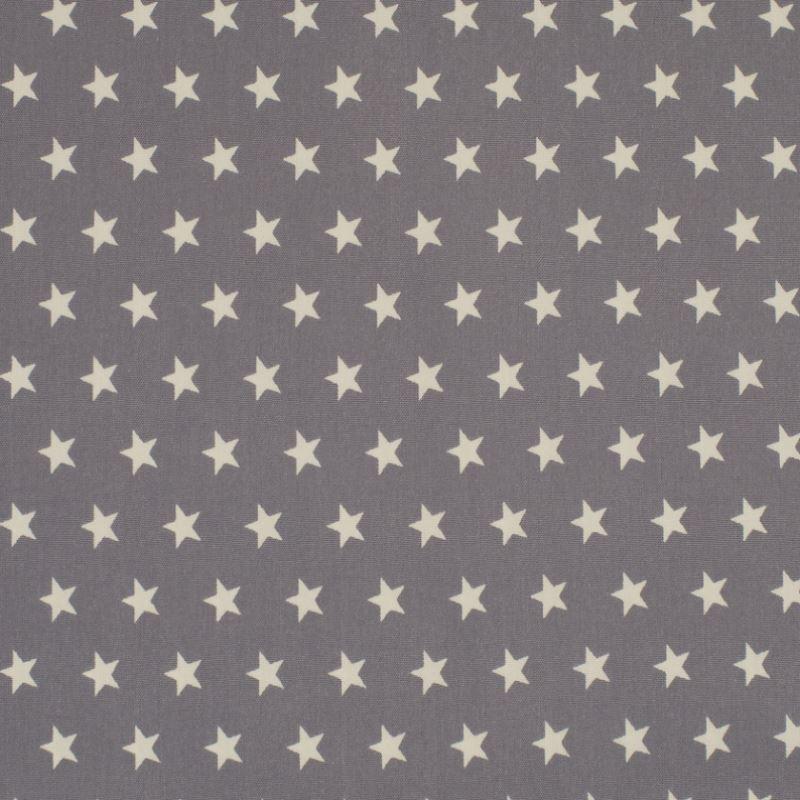 Tissu Coton Imprimé Etoile Perle