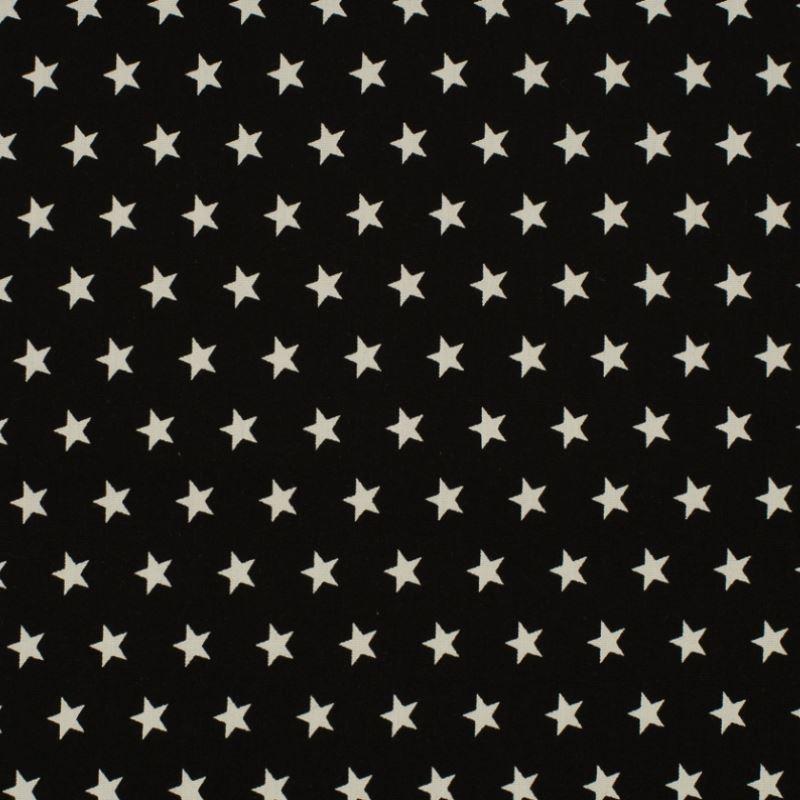 Tissu Coton Imprimé Etoile Noir