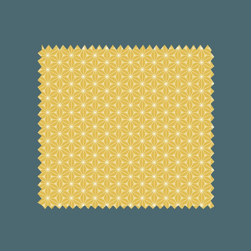 Tissu Fuji Imprimé Jaune