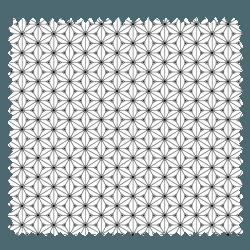Tissu Fuji Imprimé Noir Blanc