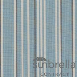 Tissu Sunbrella Stripe Rayé Bleu