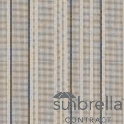 Tissu Sunbrella Stripe Rayé Gris
