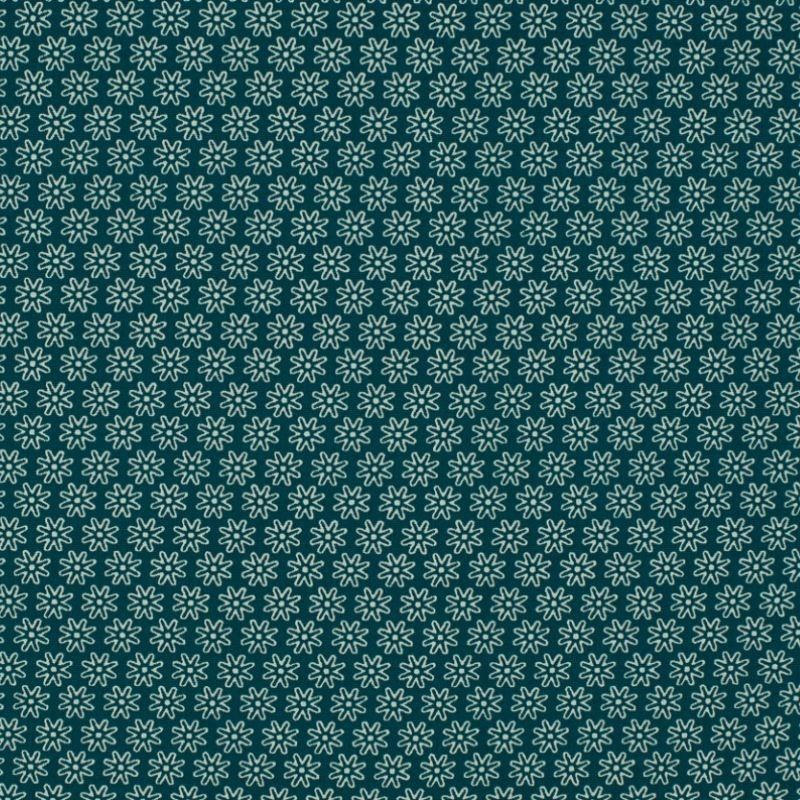 Tissu Imprimé Floralie Canard