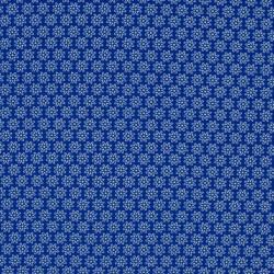 Tissu Imprimé Floralie Royal