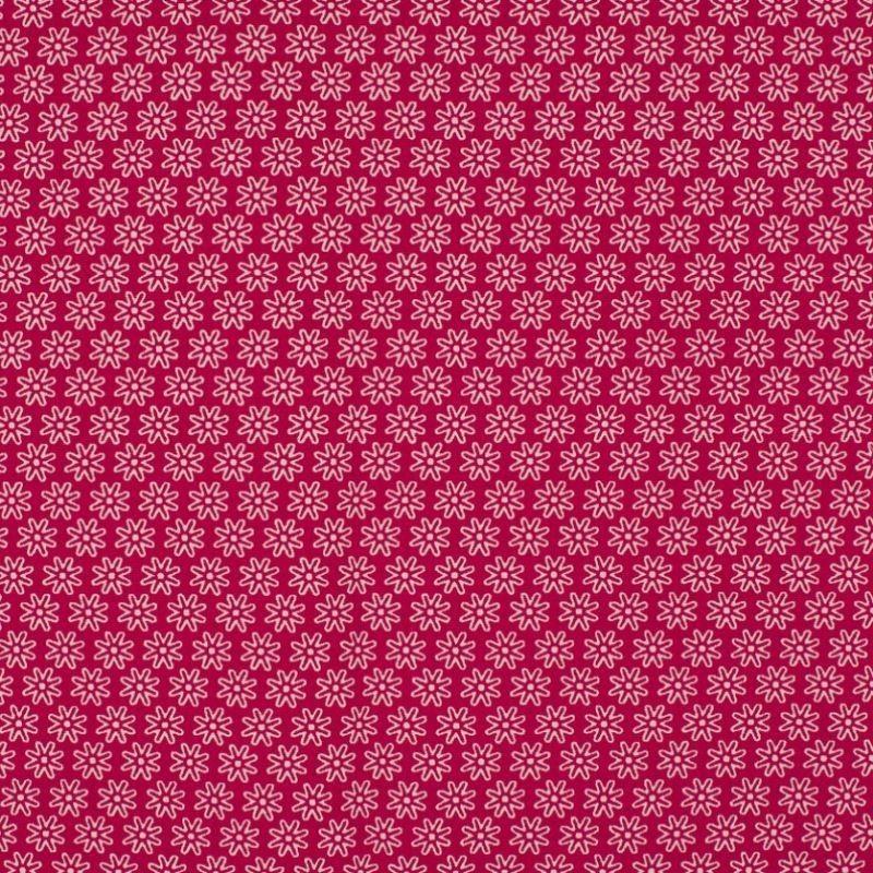 Tissu Imprimé Floralie Fuchsia