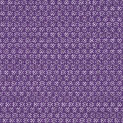 Tissu Imprimé Floralie Violet