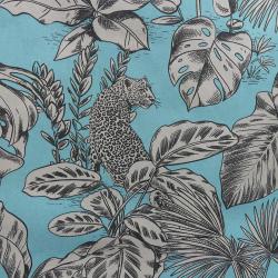 Tissu Mowgli Toile Imprimée Turquoise