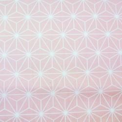 Tissu Cretonne Casual Imprime Blush