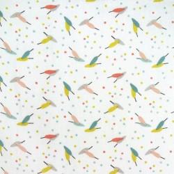 Tissu Cretonne Duvia Imprime Blush nil