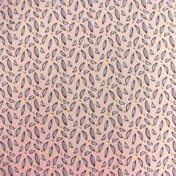 Tissu Cretonne Hoja Imprime Blush nuit