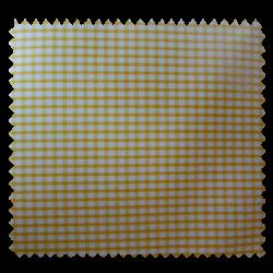 Tissu Petit Vichy Jaune Blanc
