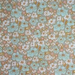 Tissu Cretonne Kalmia Imprime Lin celadon