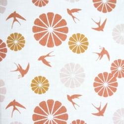 Tissu Cretonne Noshiro Imprime Blush terra