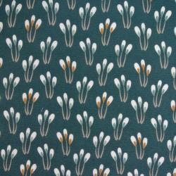 Tissu Cretonne Paplami Imprime Balsam noisette