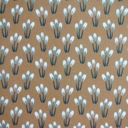 Tissu Cretonne Papluma Imprime Noisette balsam