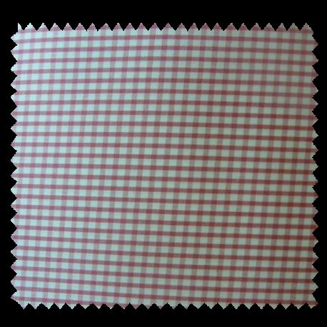 Tissu Petit Vichy Rose Blanc