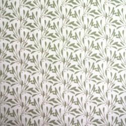 Tissu Cretonne Slichen Imprime Blanc tilleul