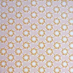 Tissu Cretonne Sotang Imprime Blush ocre