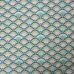 Tissu Cretonne Yona Imprime Bronze paon