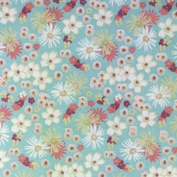 Tissu Cretonne Zinia Imprime Menthe