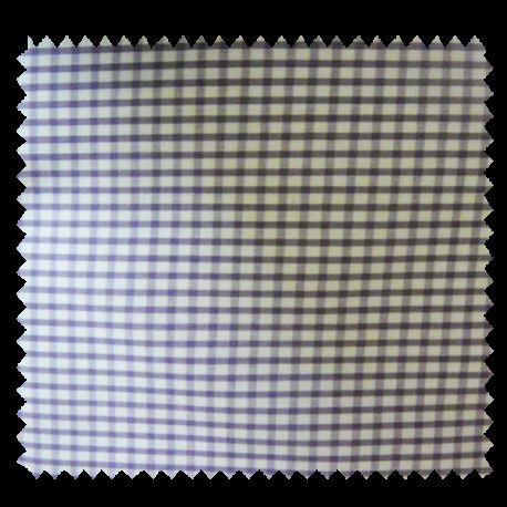 Tissu Petit Vichy Lilas Blanc