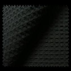 Tissu Nid d'Abeille Meleze Uni Noir