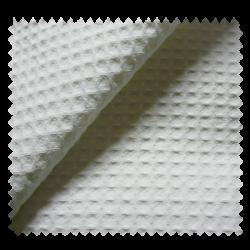 Tissu Nid d'Abeille Meleze Uni Blanc
