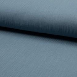 Tissu Double Gaze Uni Bleu Ciel