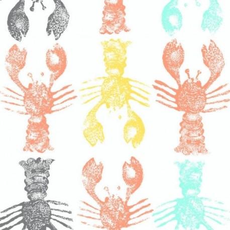 Tissu Homard Multicolore