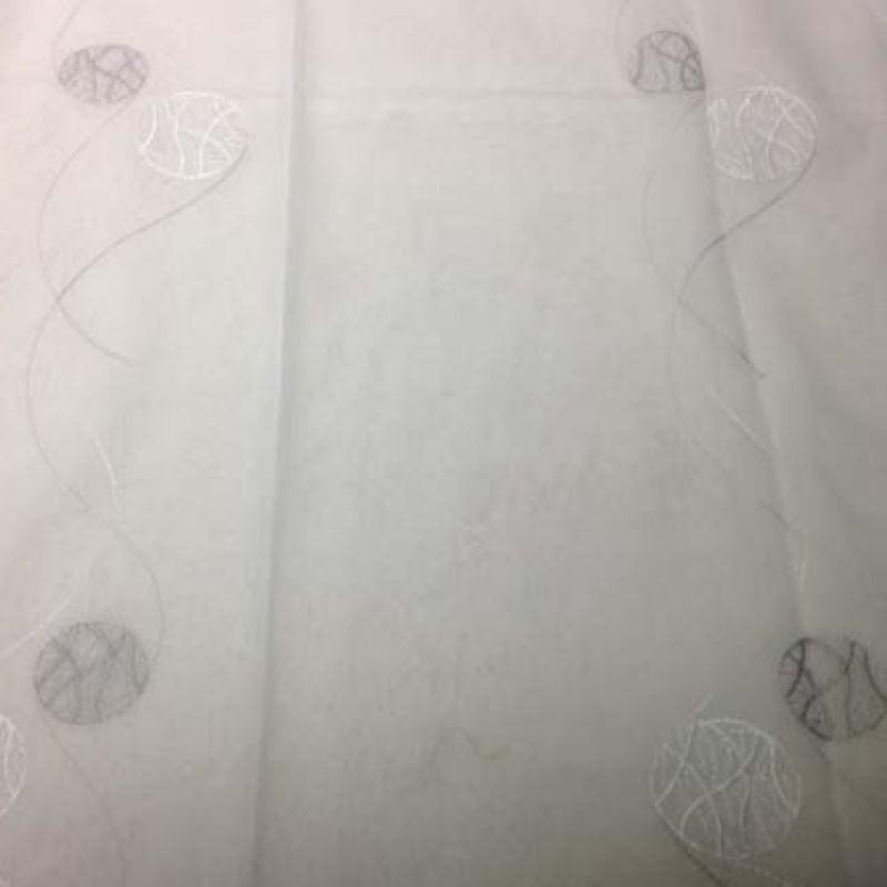 Tissu Sphere Brode Blanc Gris
