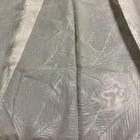 Tissu Voile Feuillage Yogi Gris